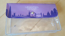 Leighton Denny Around The World Lilac Manicure/Pedicure/Cosmetic Bag