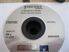 4 ft. Of Swarovski Rhinestone Barchain in 24pp Crystal/Rhodium. #1028