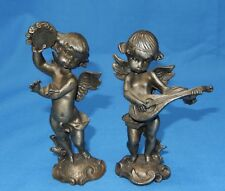 Vintage Fine Pewter Angel Cherub Figurines