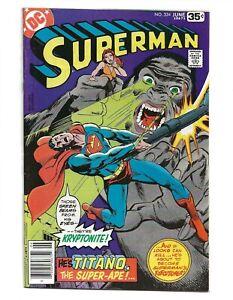 Superman #324 (1978) Neal Adams High Grade VF+ 8.5