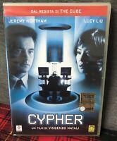 Cypher (2002) DVD Nuovo Sigillato Jeremy Northam Lucy Liu