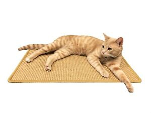 Natural Cat Scratching Mat with Premium Sisal Exerciser Mat Toy for Kitty Cat