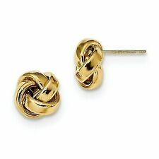 14k 14kt Yellow Gold Polished Love Knot Post Earrings 9.6 mm