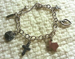 """James Avery Sterling Silver Charm Bracelet With 5 Charms, 7.50"""""""
