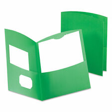 Oxford Contour Two Pocket Recycled Paper Folder 100 Sheet Capacity Green 5062560