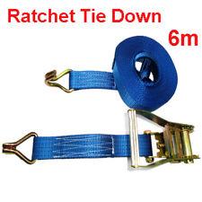 Ratchet Truck Tie Down Strap 5CM 6M 2500KG LC Ute Roof Rack Lashing Cargo Rope