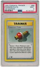 Pokemon Flute - 86/102 - PSA Mint 9 Uncommon 1st Edition Pokemon Card 3Q6