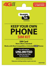Straight Talk Bring Your Own Phone Byop Sim Card Kit - T-Mobile Gsm Compatible