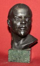 Vintage Soviet Russian Lenin Metal Bust Sculpture by Artamonov