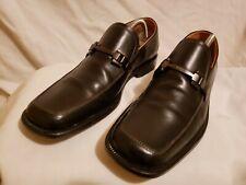 Hugo Boss Black Leather Horse Bit Loafers Dress Shoes Sz 9 Black