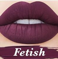 LIME CRIME VELVETINES FETISH DEEP PLUM MATTE LIQUID LIPSTICK AUTHENTIC COSMETICS