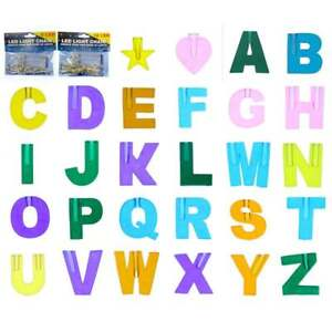 Create Your Name In Lights With LED Light Chain Letters & Symbols