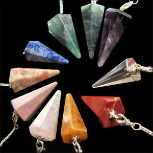 Crystal Gemstone Point Dowsing Pendulum Scrying Dowser
