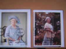 GAMBIE/Guyana, 2 différents reine mère/Royalty M/feuilles, F/U, sur FDC PIECES. Nice.