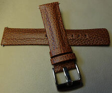 New Mens Brown Padded 22mm Watch Band VERY BEAUTIFUL Heavy Chrome Buckle $14.99