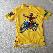 primal wear Cycling racing  Jersey  Yellow  Women's sz s  Curious George 1