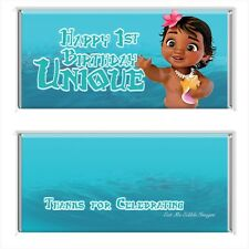 Baby Moana Personalised Chocolate Wrapper 4x6 To Fit Aldi Chocolates