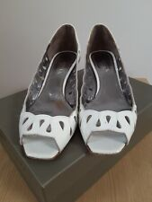Guja Milano - White Cut Out Detail Wedge Shoes - UK Size 4.5