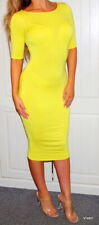 RIVER ISLAND 🍋YELLOW🍋  BODYCON MIDI  DRESS UK SIZE 8 🍋🍋🍋🍋