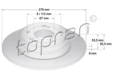 NEW TOPRAN PAIR REAR BRAKE DISCS Mercedes C-CLASS CLC Class CLK SLK 1995-2007