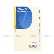 Filofax Personal Size Subject Index Divider 6 Part Cream Refill Insert 131678