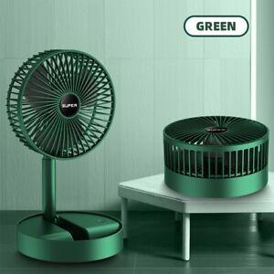 Portable Foldable Pedestal Desktop Fan Rechargeable Free Standing Cooling Fan