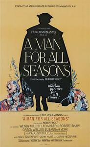 A Man for All Seasons Vintage Movie Poster Lithograph Paul Scofield S2 Art
