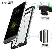 Case For LG G5 POETIC【Affinity】Premium Thin Dual material Bumper Case Black