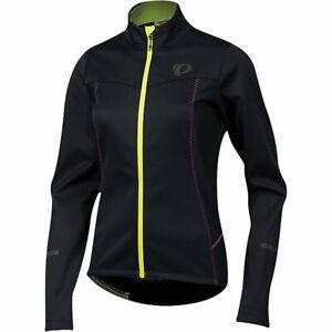 NWT Pearl Izumi Women's SMALL $125 Select Escape Softshell Jacket - Black Yellow
