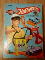 VINTAGE 1969 MATTEL HOT WHEELS COLORING BOOK AUTHORIZED EDITION