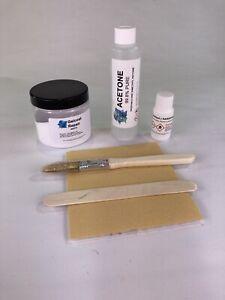 Gelcoat Filler Repair Kit - WHITE - 100g - Acetone, Brush, Sandpaper Included