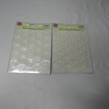 2 Gartner Self Adhesive Seals Foil Pitter Patter Seals 25 Count Baby