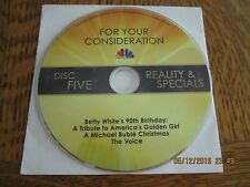 NBC EMMY DVD BETTY WHITE 90TH BIRTHDAY  + MICHAEL BUBLE CHRISTMAS + The VOICE
