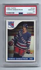 1985-86 Topps Tomas Sandstrom ROOKIE *PSA 10* GEM MINT N.Y. Rangers LOW POP 10