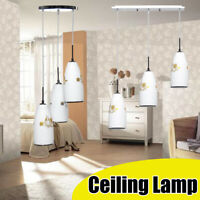 3 Head Vintage Modern Ceiling Hanging Pendant Lamp Glass Fixture Fitting Light