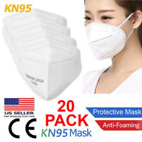 20 PCS KN95 Face Mask 5 Layer Disposable Mouth Cover Protective Respirator PM2.5