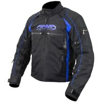 ARMR Moto Ukon Urban Motorcycle Motorbike Waterproof Textile Jacket Black Blue
