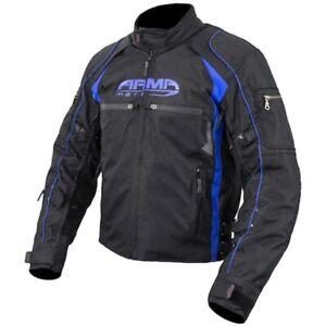 ARMR Moto Ukon Urban Motorcycle Motorbike Waterproof Textile Jacket Black Blue
