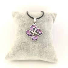 LAUBURU cristal violeta COLGANTE acero inox. BASQUE LIVE ideas REGALO país vasco