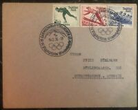 1936 Garmisch Germany Winter Olympic Stamps Cover to Schaffhausen Switzerland