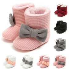 Toddler Baby Girl Shoes Soft Crib Sole Shoes Newborn Babe Winter Warm Boot AU