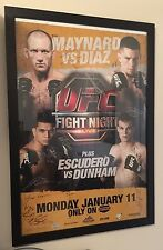 UFC Fight Night 20 Poster Signed by Card NATE DIAZ UFC Official Product 078/125