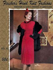 Fleisher's #93 c.1953 Sophisticate Fashion Patterns for Women Knitting & Crochet