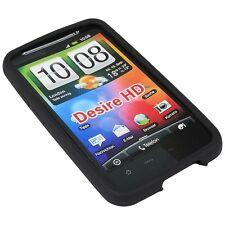 Silikon Case Tasche Hülle Etui f. HTC Desire HD schwarz