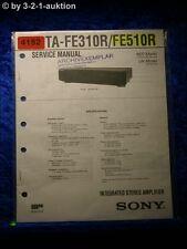 Sony Service Manual TA FE310R /FE510R Amplifier (#4152)