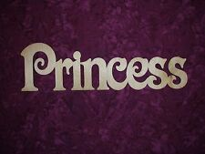 """Princess Word Unfinished Wood Connected Letters Wooden Cut Out 3.75"""" X 13"""""""