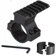"Rifle scope accessory mount 30mm & 25mm 1"" weaver/picatinny rail laser torche"