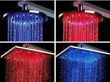 LED Duschkopf mit Regendusche aus massivem Messing verchromt, Größen / Formen