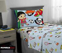 Ryan's World 3 Piece Microfiber Twin Bedding Sheet Set Pillowcase Kids Children