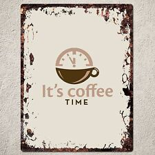 PP0122 Rust Handmade COFFEE Sign Home Store Shop Cafe Interior Wall Decor Gift
